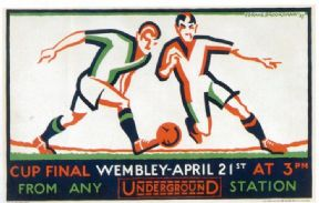 Vintage London Underground poster - Wembley Cup Final 1927